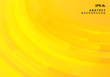 Abstract yellow geometric background and dynamic curve fluid motion shapes composition.