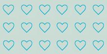 Glass Blue Hearts