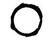 Grunge paint circle.Grunge black oval shape.Dry paint circle.