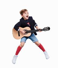Junge Als Gitarrenspieler