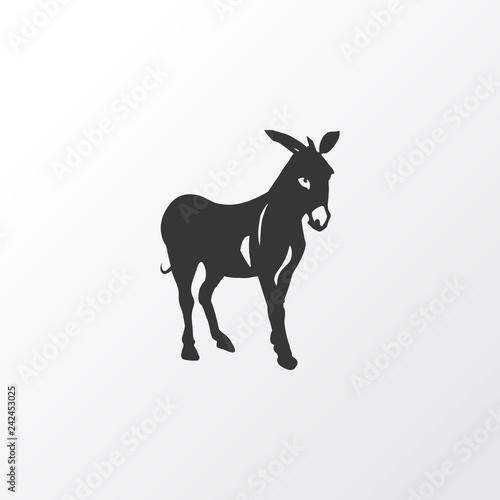Tablou Canvas Donkey icon symbol