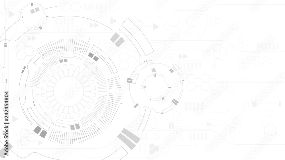 Fototapety, obrazy: Gear abstract technology white background