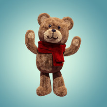 3d Render, Cute Vintage Teddy ...