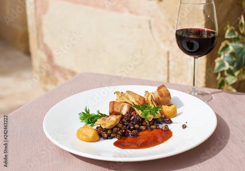 Fototapeta obiad danie pyszne kuchnia  obraz