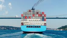 Cargo Ship Tanker In Bosphorus...