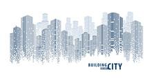 Abstract Futuristic City Vecto...