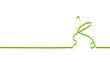 wielkanocny królik zielona wstęga wektor
