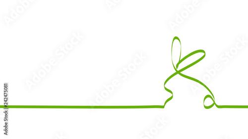 Fototapeta wielkanocny królik zielona wstęga wektor obraz