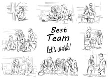 Business Team Working Vector S...