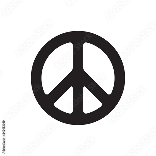 Peace symbol vector illustration Canvas
