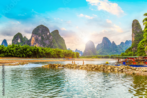 Poster Guilin The Beautiful Landscape of Guilin, Guangxi..