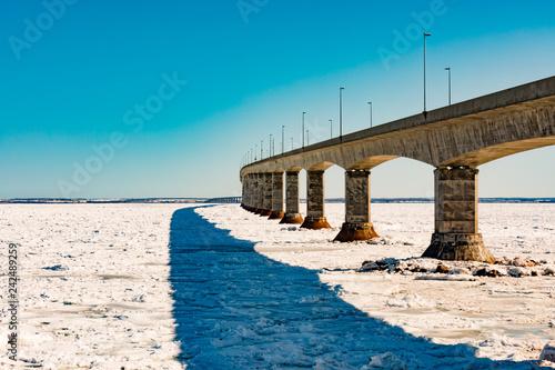 Fotografie, Tablou  Confederation Bridge over sea ice to PEI Canada