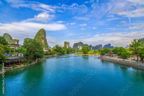 Foto op Aluminium Guilin The Beautiful Landscape of Guilin, Guangxi..