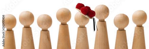 Fotografía  Spielfiguren mit Bollenhut