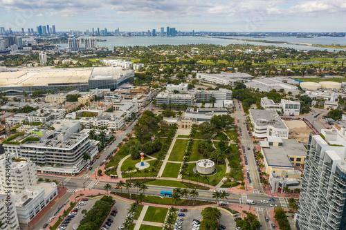 Poster Centraal-Amerika Landen Aerial Miami Collins Park
