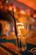 Bartender preparing alcoholic aperitif, aperol spritz cocktail
