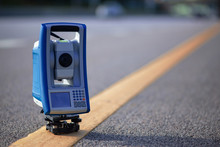 Total Station On Interstate