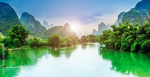 Fotografía  The Beautiful Landscape of Guilin, Guangxi..