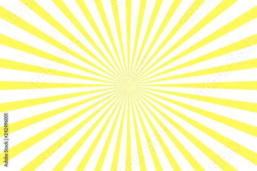 Fototapeta Simple yellow and white background. Stripes in retro pop art style obraz na płótnie