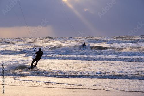 Kitesurfen in der niederländischen Nordsee