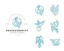 Vector Icon And Logo Peace And...