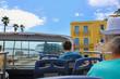 Sightseeing in Havana, cruise ship port, palm tree lined street - beautiful panorama