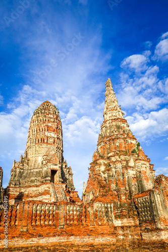 Keuken foto achterwand Asia land Wat Chaiwatthanaram temple, Ayutthaya, Thailand