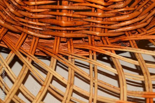 Fotografía  wicker basket background