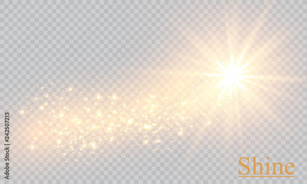 Fototapety, obrazy: Vector transparent sunlight special lens flare light effect.  Sparkling magic dust particles