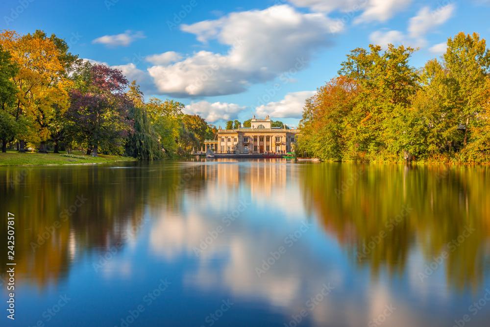 Fototapety, obrazy: Łazienki Królewskie w Warszawie, Pałac na wodzie
