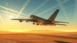 Leinwandbild Motiv The plane