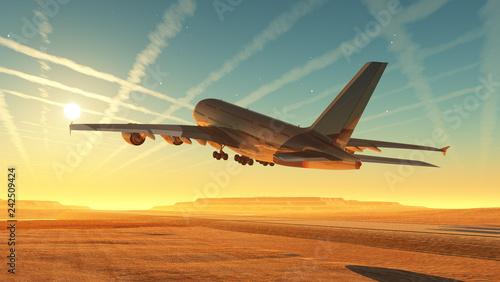 Poster Zwavel geel The plane
