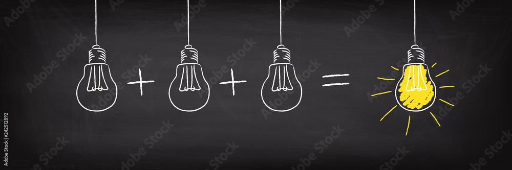 Fototapeta Teamwork Concept Light Bulb Idea
