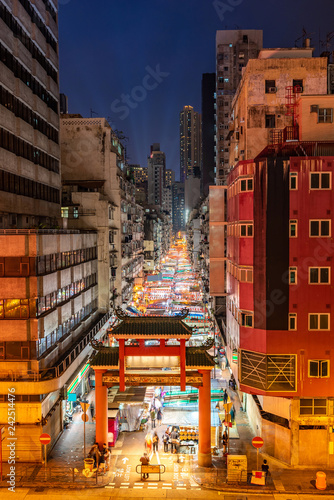 Foto op Aluminium Aziatische Plekken Temple Street Night Market Hong Kong