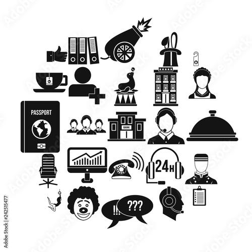 Accordance icons set Canvas Print