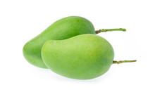 Fresh Green Mango Fruit Isolat...