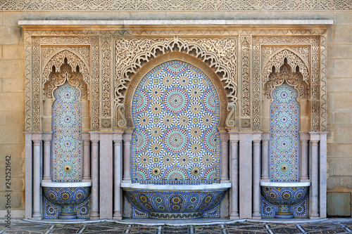 Deurstickers Marokko Fountain at Mausoleum of Mohammed V, Rabat, Morocco