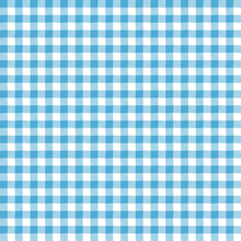 Blue Gingham Seamless Pattern - Traditional Light Blue And White Gingham Seamless Pattern