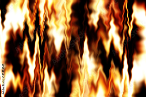 Fotografie, Obraz  abstract yellow, white and black background with flames