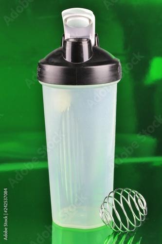 Fotografie, Obraz  Nutritional health mixing bottle and blender
