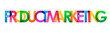 PRODUCT MARKETING colorful typography banner