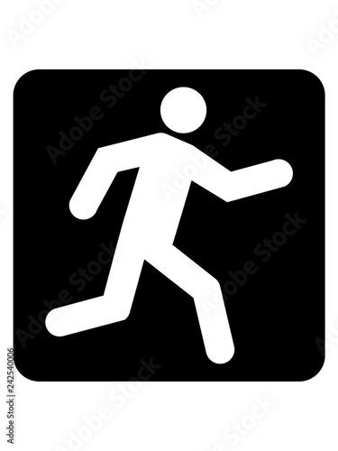 Fotografia, Obraz  schnell button cool piktogramm gehen schnell rennen wettrennen logo clipart tria