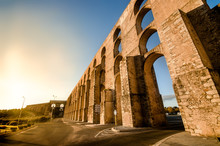 The Amoreira Aqueduct, At Elvas. Portugal