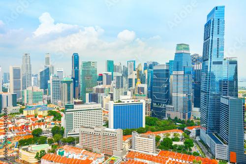 Foto op Aluminium Aziatische Plekken Singapore modern downtown with chinatown