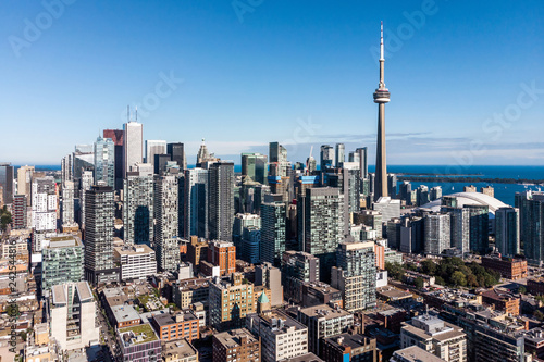 Canvas Print Aerial view of Downtown Toronto, Ontario, Canada.