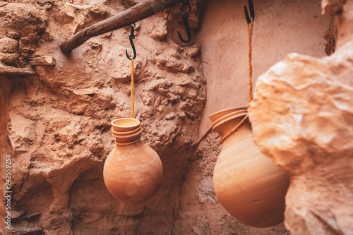 Recess Fitting Middle East Pottery in Nizwa