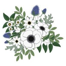 Rustic Floral Arrangement Illu...