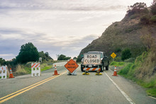 """""""Road Closed"""" And """"Slide Ahead..."""