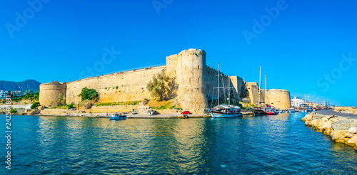 In de dag Noord Europa Kyrenia Castle situated in the Northern Cyprus