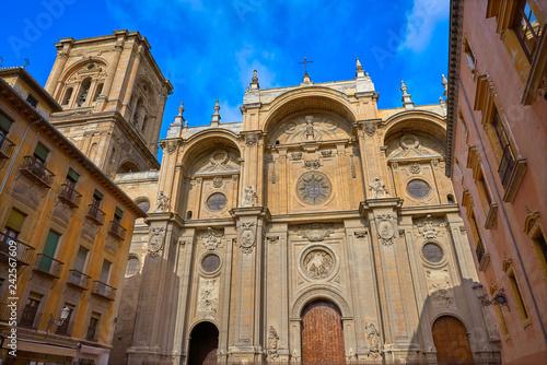 Fotografía  Granada Cathedral facade in Spain